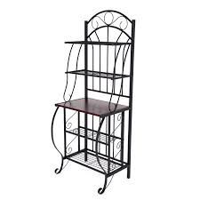 Bakers Rack With Doors Ideas Antique Interior Storage Design Ideas With Bakers Rack