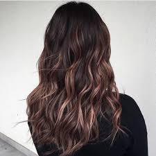 rose gold lowlights on dark hair image result for rose gold balayage brown hair hair makeup