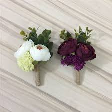boutonniere flowers ivory wine artificial flowers buttonhole boutonniere groom