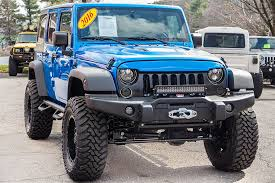 blue jeep custom 2016 jeep wrangler sport unlimited hydro blue