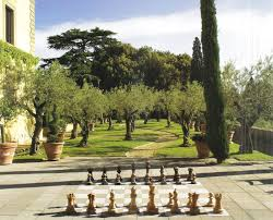 giant chessboard at villa palagio sting u0027s home in tuscany