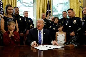 trump doj will u0027take care of u0027 violent crimes against police pbs
