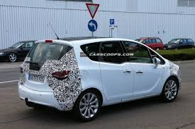 vauxhall colorado spied opel placing the final touches on facelifted meriva