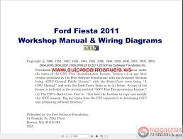 ford fiesta 2011 workshop manual u0026 wiring diagrams auto repair