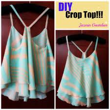 diy how to make a crop top como hacerun crop top sewing