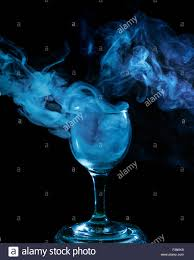 free halloween images on white background abstract art hookah blue smoke in a cocktail glass on a white