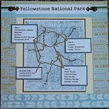 old faithful inn floor plan yellowstone national park map and itinerary scrapbook page 12x12