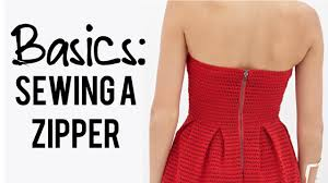 basics how to sew a zipper in the back of a dress youtube