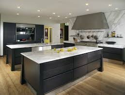 rustic contemporary kitchen design brown wooden top grey color