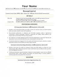 Sample Resume Receptionist Cover Letter Sample Resume For Medical Secretary Sample Resume For