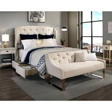 King Headboard With Storage Headboard With Shelves King Republic Design House Archer Ivory