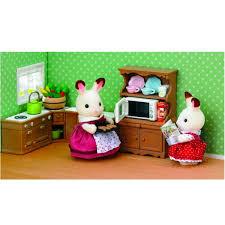 sylvanian families cuisine sylvanian family 5023 ensemble cuisine et four jeux et jouets