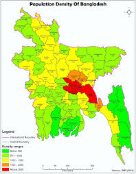 Population Density Map Welcome To Giszeal Population Density Map Of Bangladesh