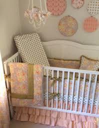 Gold Crib Bedding by Baby Crib Bedding Set Princess Nursery Peach Coral Citron