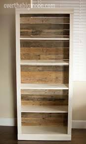 take a old bookcase and pull off the ugly back and nail old