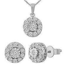 diamond set jewelry sets diamond sears