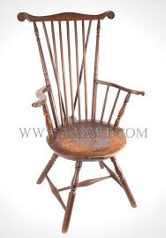 fan back windsor armchair antique furniture chairs early country american