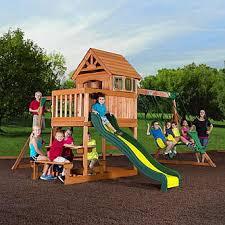 backyard discovery slide backyard discovery springboro wood swing set