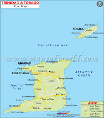 where is and tobago located on the world map and tobago road map