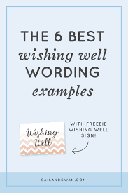 wedding wishes phrases 6 best wishing well wording exles wishing well wording ideas