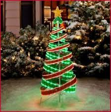 green spiral lighted tree spiral lighted outdoor christmas tree in simple methods b dara net
