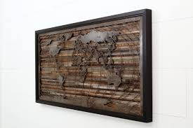 World Map Artwork by Custom Made World Map Artwork Made Of Old Barnwood And Natural