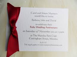 ruby wedding invitations template best template collection