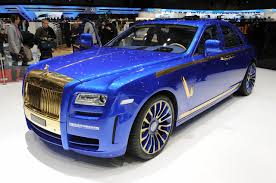 golden rolls royce mansory rolls royce ghost blinged at geneva show extravaganzi