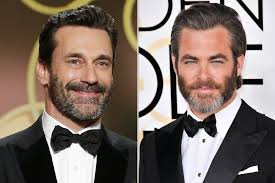 golden globes 2017 guys with beards on the red carpet