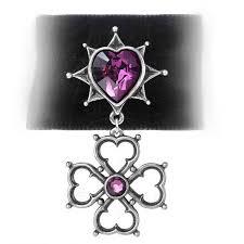Swarovski Home Decor Elizabethan Court Gothic Choker Purple Heart Choker Medieval