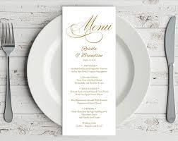 gold wedding menu template rustic wedding menu menu printable