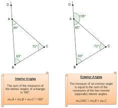 What Is Interior And Exterior Angles Writing Geometric Relationships Texas Gateway