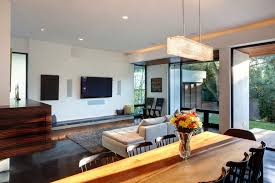 rectangular living room living room transitional with contemporary
