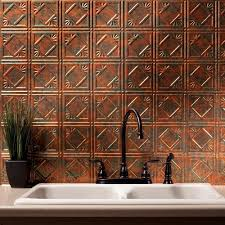 Fasade Kitchen Backsplash Panels Copper Backsplash Tiles Glass Copper Backsplash Subway Tile 1x2