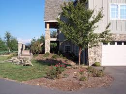 backyard landscape designs plant beds mountain advantage