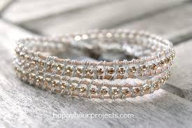 rhinestone leather wrap bracelet images Rhinestone wrap bracelet happy hour projects jpg