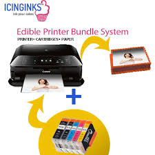 edible printing system icinginks edible printer bundle system canon pixma mg7720 cake
