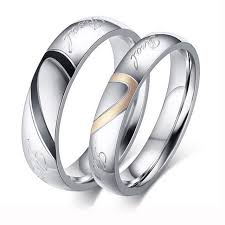 fine rings ebay images Factory price silver color couple ring quality stainless steel jpg