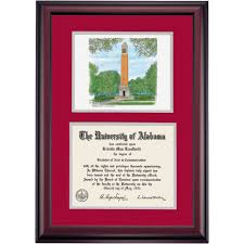 clemson diploma frame alabama school color premier denny chimes watercolor diploma frame