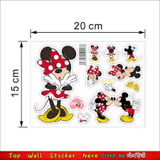 mickey mouse wall stickers for cupborad lunchbox sticker kids room mickey mouse wall stickers for cupborad lunchbox sticker kids room decor minnie home decals diy computer cup refrigerator poster in wall stickers from home