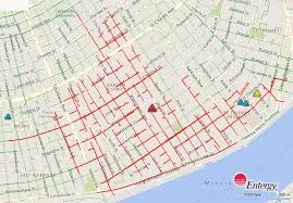 Michigan Power Outage Map by Thousands Without Power In Uptown Entergy Says Nola Com