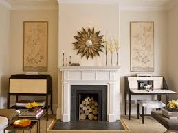 22 round mirrors flanking fireplace living rooms with fireplaces