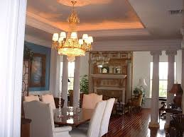 traditional dining room with chandelier u0026 laminate floors in fort