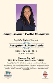 halloween city miami fl commissioner yvette colbourne miramar fl official website
