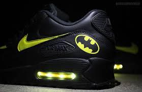 Batman Lights Batman Nike Air Max 90 With Yellow Led Lights