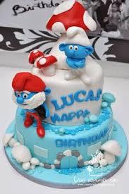 the smurfs cake top smurfs cakes birthday party boys