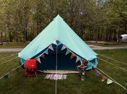 Tent In Backyard by Vintage Inspired Backyard Camping From Suburban Camping Company
