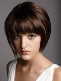 hairstyles for straight across bangs short haircuts with bangs side swept choppy straight across