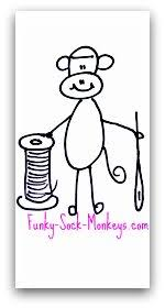 Sock Monkey Fabric Sock Monkey Fabric Funky Monkey Print Fabrics