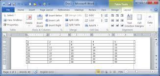 table tools design tab create modify delete table ms word 2010 tutorial all microsoft